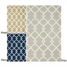 Bring style and elegance into your room setting with this Moroccan inspired trellis rug. The plush wool pile offers great comfort under foot.