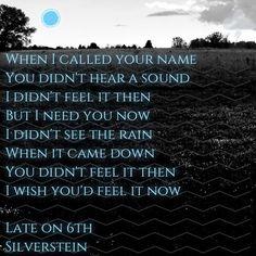 Silverstein - Late on 6th #Silverstein #Lyrics #2015
