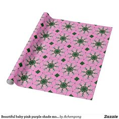 extra special by wrapping them in love #Beautiful #baby #pink purple shade motif monogram de wrapping paper