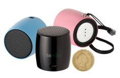 Bitmore®'s e-Atom™ Super Mini Bluetooth Wireless Portable Speaker is one of the smallest Bluetooth speakers in the world!  Despite standing at just under 4cm tall, the e-Atom™ produces a huge sound!