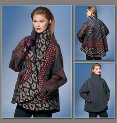 Reversible Jacket by Koos van den Akker: Pattern v1277, $19.20 #Sewing #Reversible_Jacket #Koos_van_den_Akker