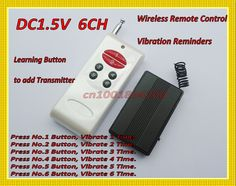 315/433 Wireless Vibrator Reminders DC1.5V 1CH RF Remote Control Vibrator Reminders1CH (2CH 3CH 4CH 6CH 8CH ) Adjusted by Jumper