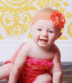 Baby Flower Headband  All Sizes by fabflowerheadbands on Etsy, $12.95