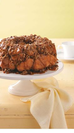 Caramel Pecan Monkey Bread~ this is good with or without the nuts. I've also added some cream cheese as a filling!