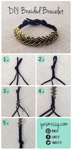 Easy DIY projects - braided bracelet