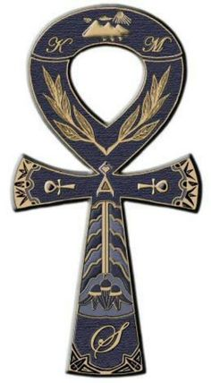 Ankh Cross- Also known as Key of Life, the Key of the Nile. It represents the concept of Eternal Life. Mirrors were also often made in the shape of an ankh, symbolize a perceived view into another world. Egyptian Mythology, Egyptian Symbols, Ancient Egyptian Art, Ancient History, Ankh Tattoo, Sanskrit Tattoo, Familie Symbol, Egypt Art, Religion
