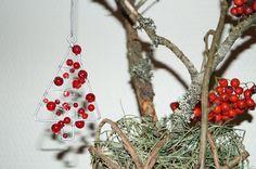 KUUNSÄTEESSÄ: Joulukoristeita rautalangasta ja -romusta