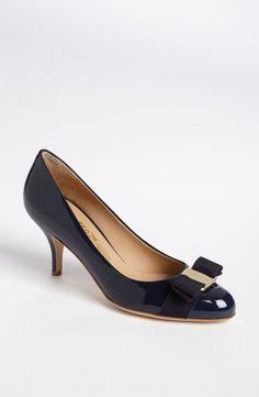 Salvatore Ferragamo 'Carla' Pump (Women) Oxford Blue Patent