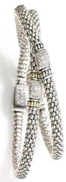 Lagos Caviar Diamond Rope Bracelet