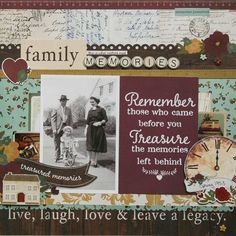 Family Memories **Simple Stories DT** - Scrapbook.com - Made with the Simple Stories Legacy Collection.