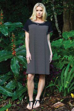 Vigorella - Stripe Button Dress