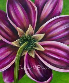 Original Paintings of Flowers from Internal Bloom, Denise Cassidy Wood