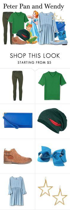 """""""Peter Pan and Wendy Darling"""" by megan-vanwinkle ❤ liked on Polyvore featuring Topman, Lands' End, Neiman Marcus, 21 Men, Kenneth Jay Lane, Chanel, polyvoreeditorial and polyvorecontest"""
