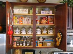 I love the idea of creating a baking station using one of the cupboards in my kitchen.