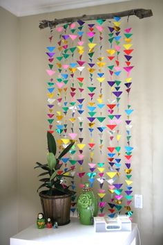 Hanging Triangle Garland DIY- my.life.at.playtime.