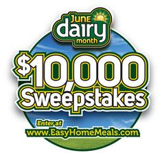 Start this Monday out right by entering to win the #JuneDairyMonth $10,000 #Sweepstakes!!!
