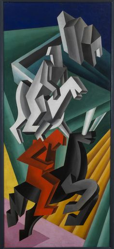 Solidità di cavalieri erranti, Fortunato Depero, 1927, courtesy MART - Museo d'Arte Moderna e Contemporanea di Trento e Rovereto / Un autore. Fortunato Depero / Dall'Autarchia all'Autonomia.