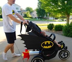 CONTEST: Second Annual Cotton Babies Virtual Stroller Parade - Womens Batman - Ideas of Womens Batman - CONTEST: Second Annual Cotton Babies Virtual Stroller Parade Beyond the Diaper by Cotton Babies Cloth Diapers. First Halloween, Baby Halloween Costumes, Baby Costumes, Family Halloween, Baby Batman Costume, Batman Baby Clothes, Batman Clothing, Paper Halloween, Halloween Parade