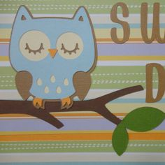 Cricut! Owl Baby Boy Scrapbook Page Sweet Dreams Paper by BabyBearsCottage, $7.00