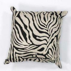 KAS Rugs Pillow 119 Zebra Oasis Hand-Made 100% Cotton Pillow with Polyester Fibe Zebra Home Decor Pillows Pillows