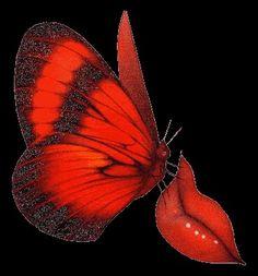 Lips & butterfly