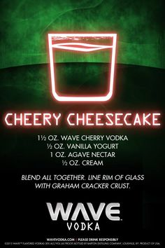 Have seconds on dessert with a Cheery Cheesecake cocktail!