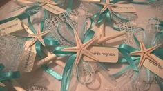 Segnaposto/ringraziamento con stella marina www.confettitullefantasia.com
