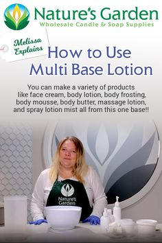 How to Use Natures Garden's Multi Base Lotion Video