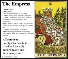Journaling Holistic Change With The Empress - Holistic Correspondences for The Empress