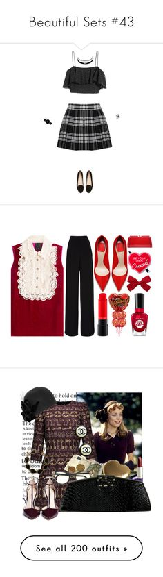 """""""Beautiful Sets #43"""" by harleenquinzelx ❤ liked on Polyvore featuring Alice + Olivia, H&M, Witchery, Charlotte Russe, CLUSE, Eva Fehren, Anna Sui, Rochas, MKF Collection and Yvng Pearl"""