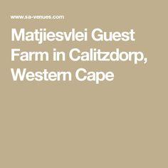 Matjiesvlei Guest Farm in Calitzdorp, Western Cape