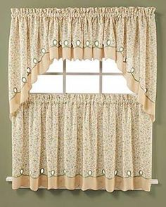 ashley floral kitchen tier u0026 valance tier curtains - Tier Curtains