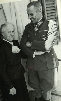 Theodor Scherer, together with his beloved mother
