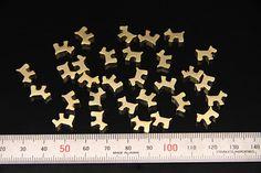 12pcs - plated matt gold brass part findings