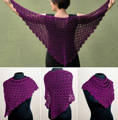 *Cascading Clusters Shawl* a new crochet pattern from PlanetJune