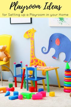 From playroom decor, to furnishing your playroom and creating play zones, these kids playroom ideas will help you set up a playroom in your home. Playroom Organization, Playroom Decor, Kids Decor, Playroom Ideas, Bedroom Decor, Activities For Kids, Crafts For Kids, Diy Crafts, Kids Bedroom Sets