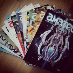 13 issues since 2008 and now #amateurmag 014 went to #print this week. and you know what: it's a very #special one. stay tuned for release dates in may and enjoy your #weekend :: #love #magazine #analog #streetart #graffiti #DIY #illustration #graphic #art #nychos #obeygiant #Padgram