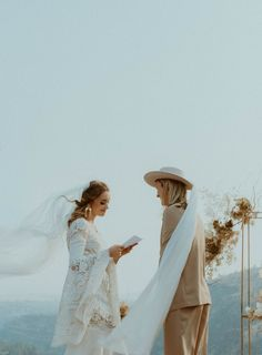 These lovebirds exchanged vows overlooking a stunning mountainside   Image by Elle Kendall Photography Wedding Blog, Wedding Styles, Wedding Day, Wedding Suits, Wedding Dresses, Elopement Inspiration, Traditional Wedding, Wedding Ceremony, Wedding Planning