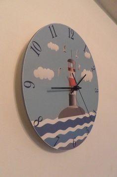 Lighthouse clock. Modern clock. Hall Lobby Boy room by Birdsland