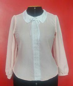 Blusa Rosa com Branco