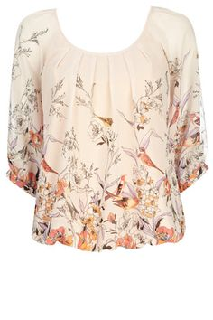 beautiful Wallis blouse with bird and floral print