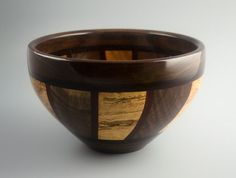 Night & Day 2 Segmented Wood Bowl in Curly by fostersbeauties