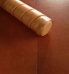 Leather handrail and floor tiles