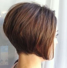 Perfect Short Stacked Bob Hairstyle for Women ... Love the softness of the stack. So many times it looks choppy.