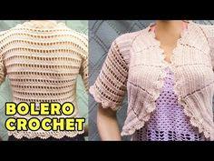 Bolero o Torera tejido a crochet o ganchillo paso a paso, fácil de tejer - YouTube