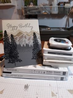 Beautiful masculine card by Susan Less Phillips; she CASED a card by Amy Koendors. Masculine Birthday Cards, Masculine Cards, Happy Birthday Cards, Homemade Birthday Cards, Homemade Cards, Boy Cards, Card Making Techniques, Fathers Day Cards, Stamping Up
