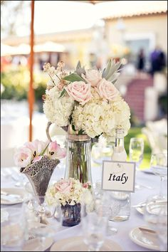 Italy table card gives me a good idea for a travel theme.name each table with a place that the two of you are really wanting to visit together in the future :) Italy Wedding, Our Wedding, Wedding Venues, Dream Wedding, Wedding Ideas, Wedding Stuff, Destination Wedding, Party Centerpieces, Reception Decorations