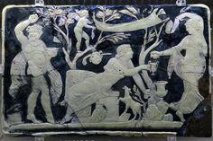 Pannello in vetro-cammeo dalla casa di Fabio Rufo a Pompei - Museo Arch.Naz. Napoli