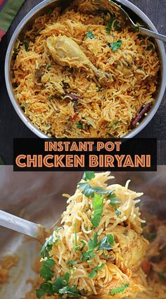 Making Chicken Biryani using Instanst pot is so effortless, the taste and the flavor are fabulous! #instantpotchickenbiryani #instantpotrecipe Ip Chicken, Chicken Chili, Sweets Recipes, Egg Recipes, Healthy Recipes, Biryani Chicken, Red Chili Powder, Clarified Butter, Curry Leaves