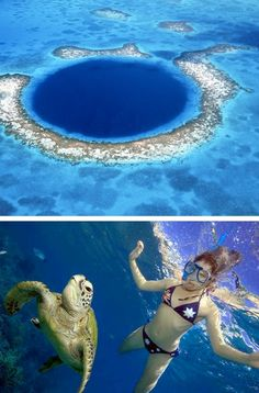 The Great Blue Hole has become one of the most popular dive spots in Belize, if not in the whole of the Caribbean